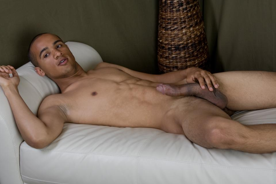 Southern-Strokes-Wesley-Black-Twink-With-A-Big-Black-Uncut-Cock-Amateur-Gay-Porn-10 Black Texas Twink Jerking Off His Big Black Curved Cock