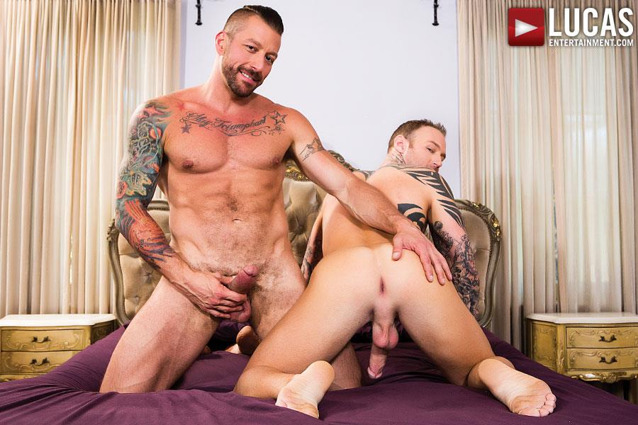 Lucas-Entertainment-Dylan-James-and-Hugh-Hunter-Muscular-Bareback-Amateur-Gay-Porn-01 Muscular Hunks Dylan James And Hugh Hunter Fucking Bareback