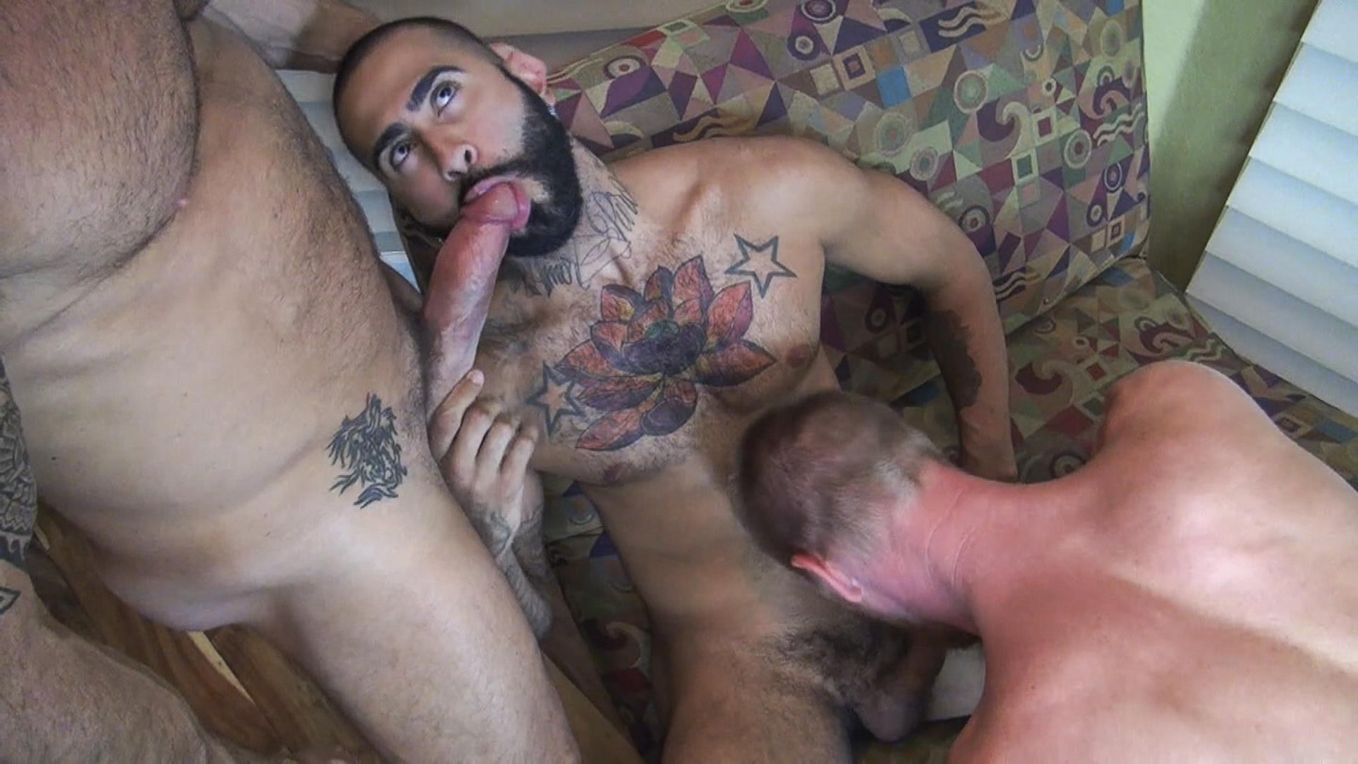 Lewd interracial gay guys hard fucking