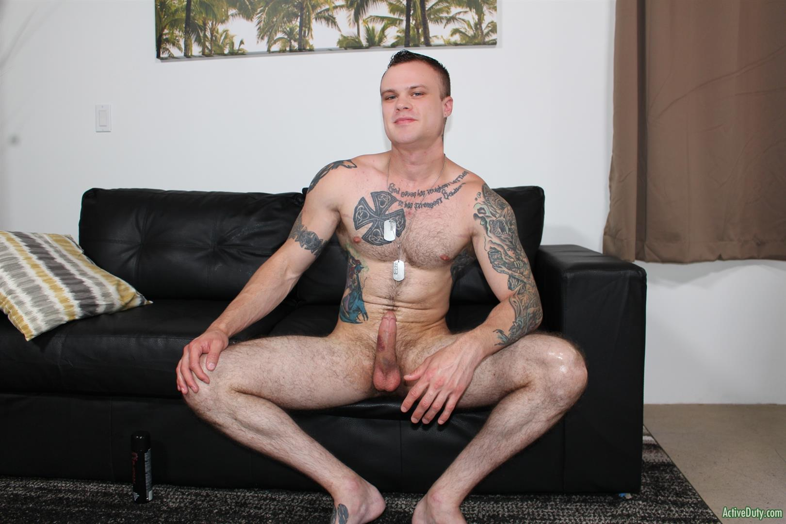 Active-Duty-Cody-Smith-Army-Hairy-Muscle-Guy-Jerking-Off-Big-Dick-12 Hairy Tatted Muscle Army Soldier Jerking His Cock