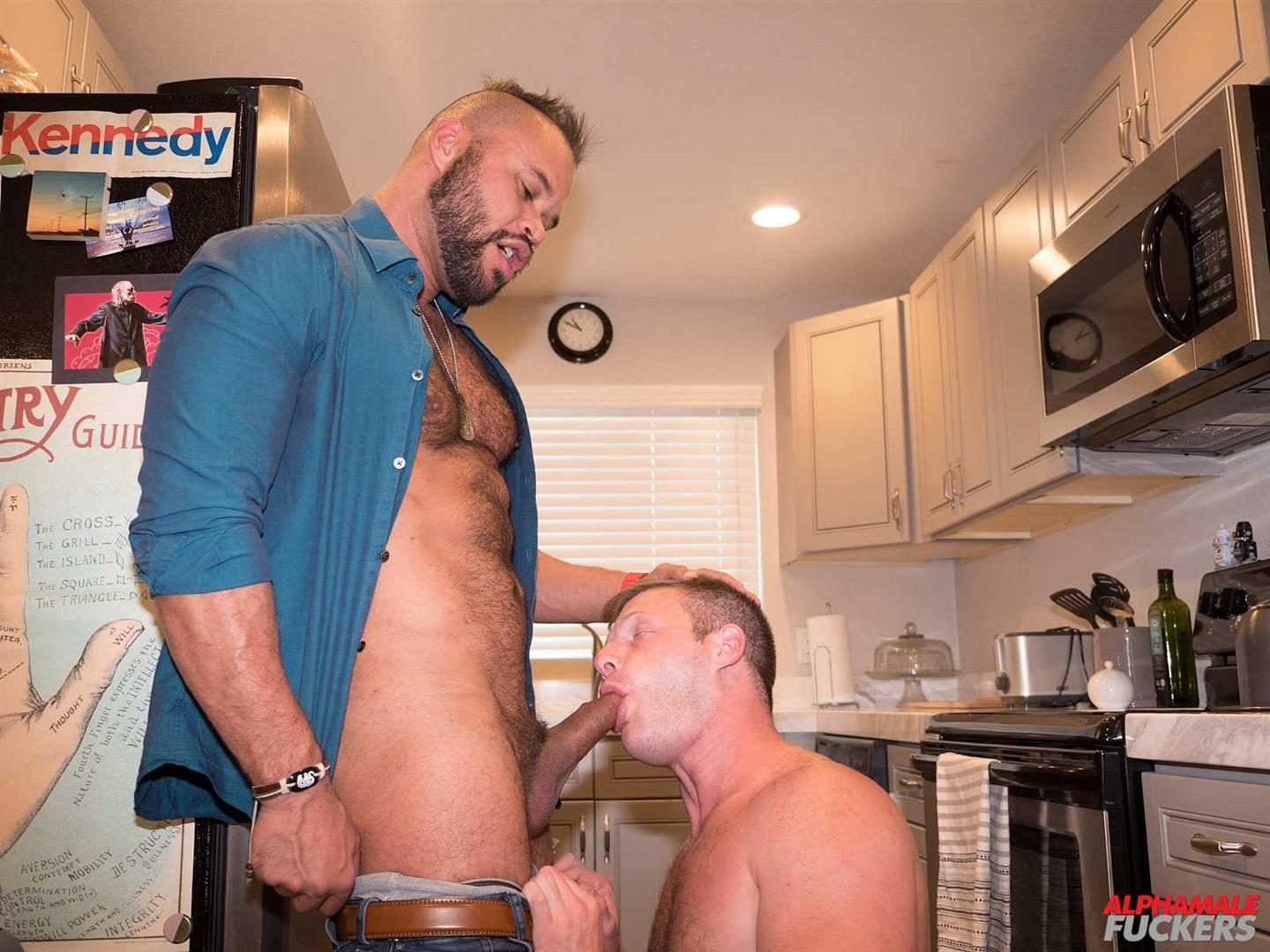 Alpha-Male-Fuckers-Brian-Bonds-and-Damien-Kilauea-Bareback-Gay-Sex-12 Brian Bonds Getting Fucked In His Kitchen By Damien Kilauea