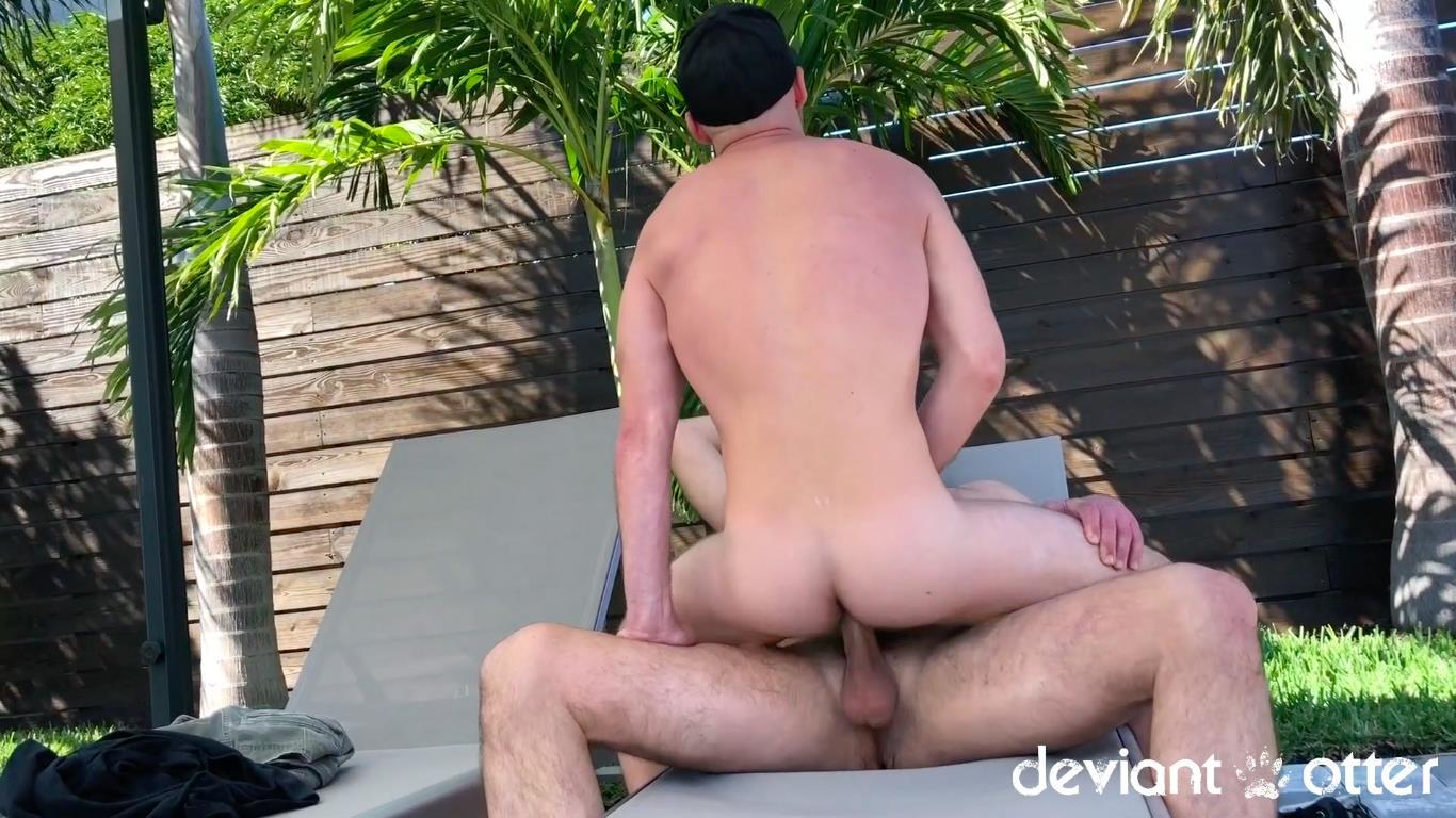 Deviant-Otter-Jake-Naked-Hairy-Guys-Amateur-Bareback-Sex-13 Outdoor Bareback Flip Fucking With The Deviant Otter