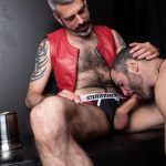 Hairy-and-Raw-Rex-Hunter-and-Dusty-Williams-Hairy-Leather-Daddy-Big-Uncut-Cock-Bareback-Video-07-150x150 Dusty Williams Begs For Daddy Rex Hunter's Big Uncut Cock To Breed His Ass
