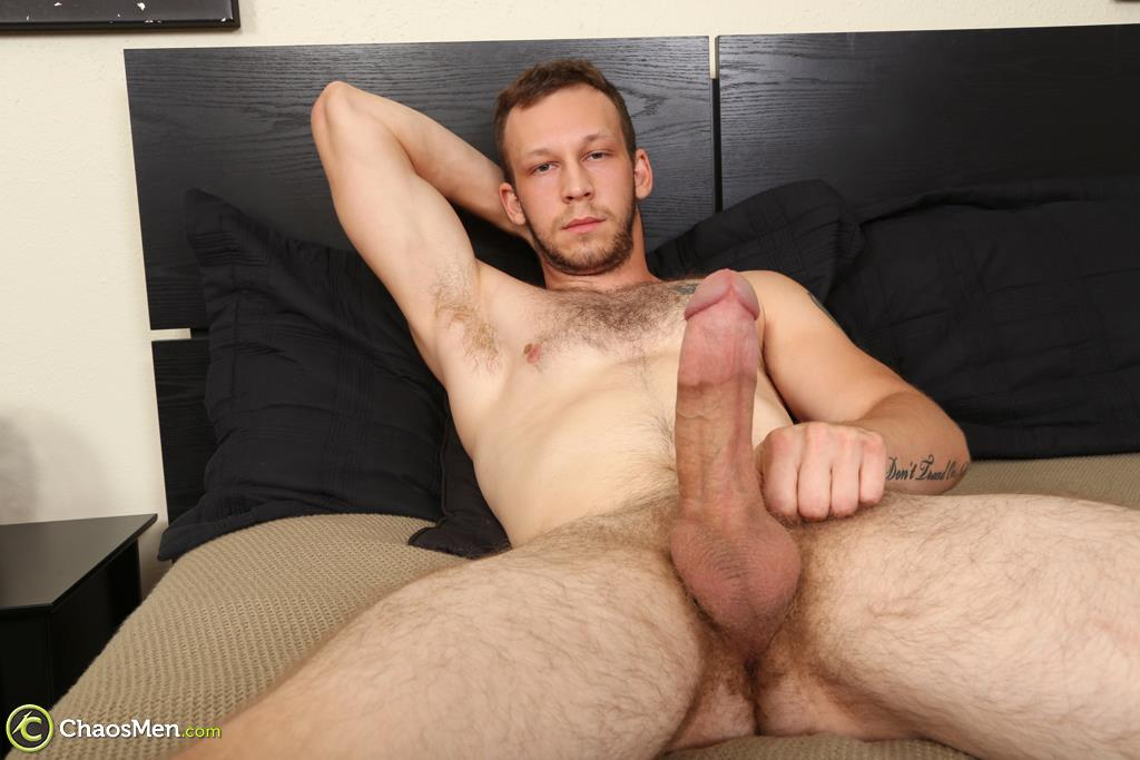 "Chaosmen-Beckett-Hairy-Otter-With-A-Thick-Cock-Jerking-Off-08 Bisexual Otter Hunk Strokes His Thick 8"" Big Cock"