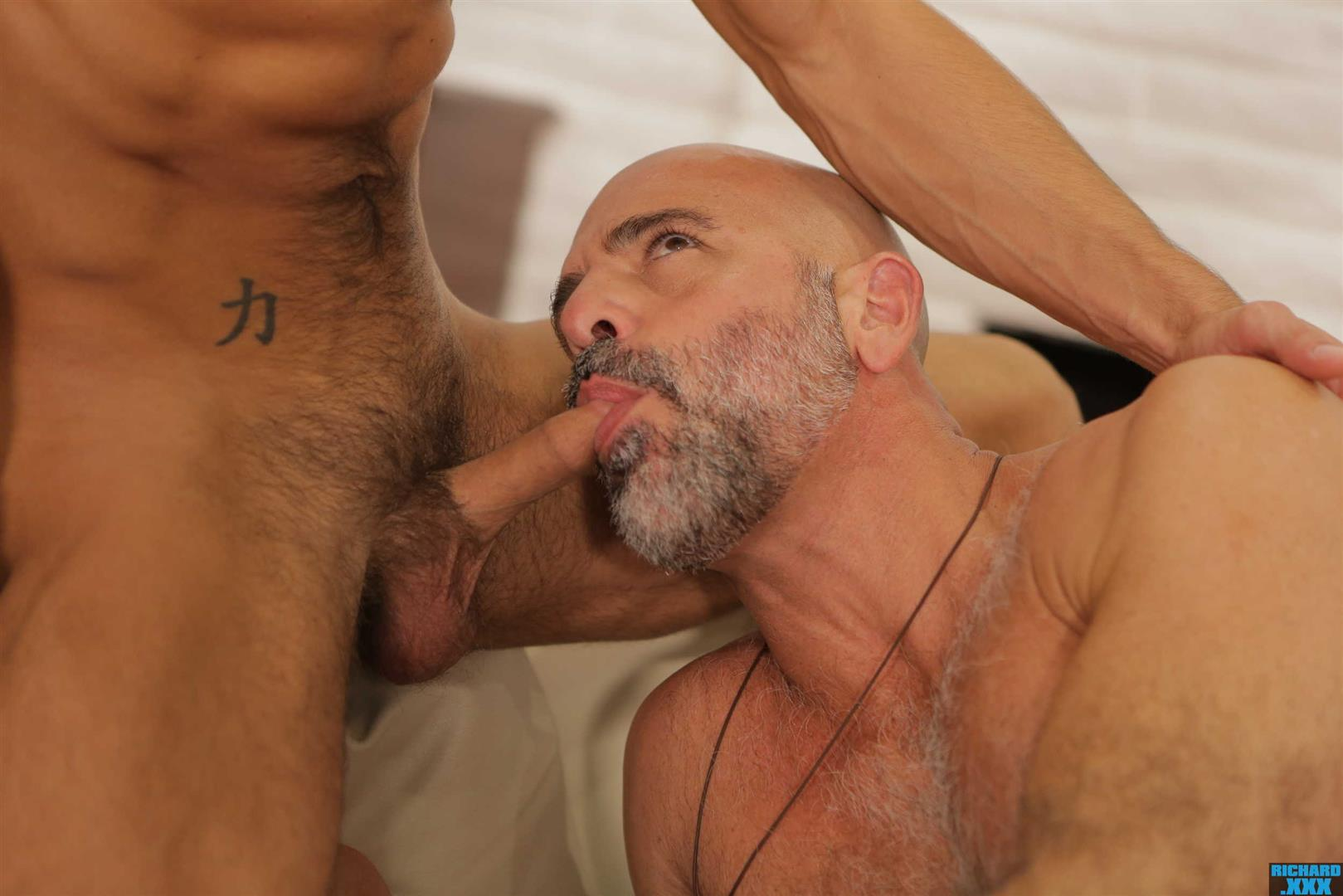 Richard-XXX-Adam-Russo-and-Casey-Everett-Muscle-Daddy-Thick-Dick-Bareback-Video-12 Hairy Muscle Daddy Adam Russo Bareback Fucking Casey Everett
