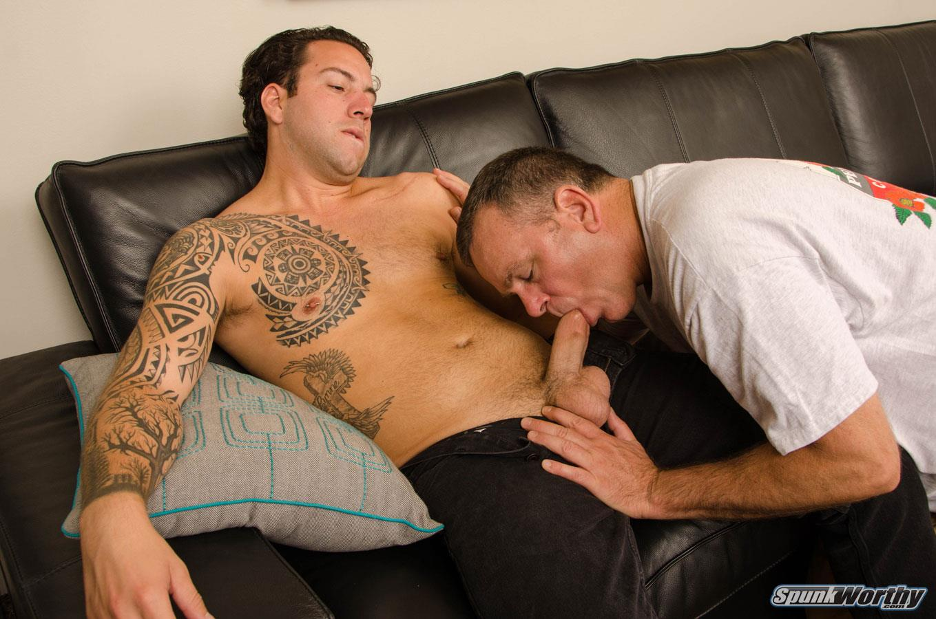 SpunkWorthy-Naked-Marine-Getting-First-Blowjob-From-Guy-03 Straight Marine Gets His First Ever Blowjob From Another Man