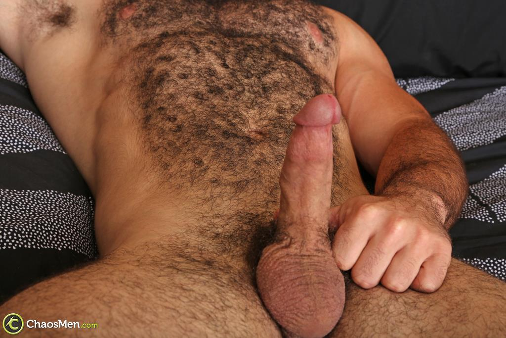 Chaosmen-Steve-Strongarm-Beefy-Hairy-Muscle-Hunk-Jerking-Off-15 Beefy Hairy Muscle Hunk Shows Off His Hairy Ass And Jerks Off