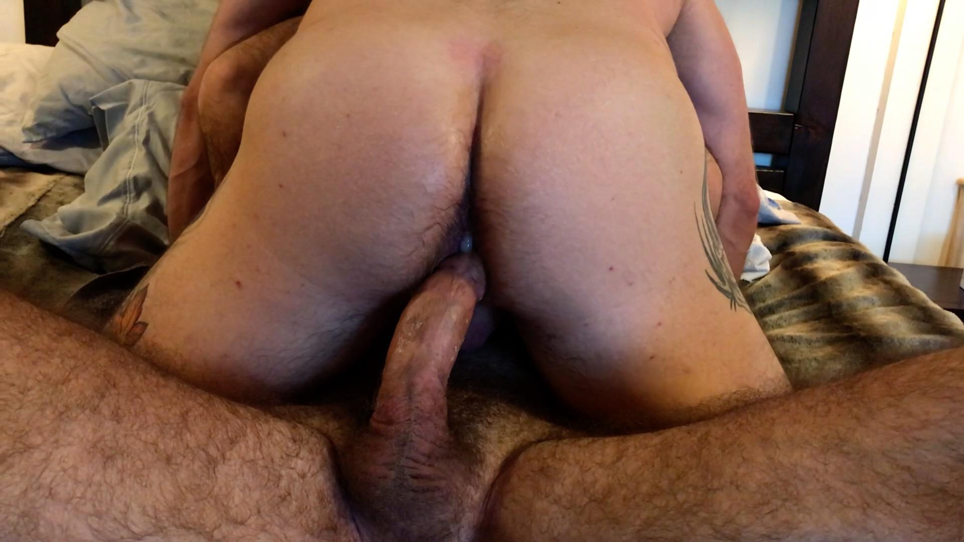 Muscle-Bear-Porn-Liam-Angell-and-Will-Angell-Daddy-Breeding-His-Boy-Gay-Sex-Video-07 Hairy Muscle Bear Daddy Will Angell Shares His Boy With A Hot Latino Top