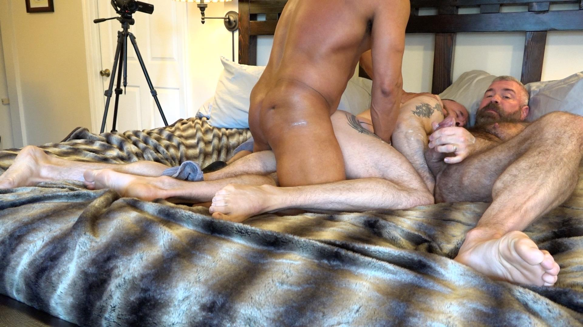 Muscle-Bear-Porn-Liam-Angell-and-Will-Angell-Daddy-Breeding-His-Boy-Gay-Sex-Video-09 Hairy Muscle Bear Daddy Will Angell Shares His Boy With A Hot Latino Top